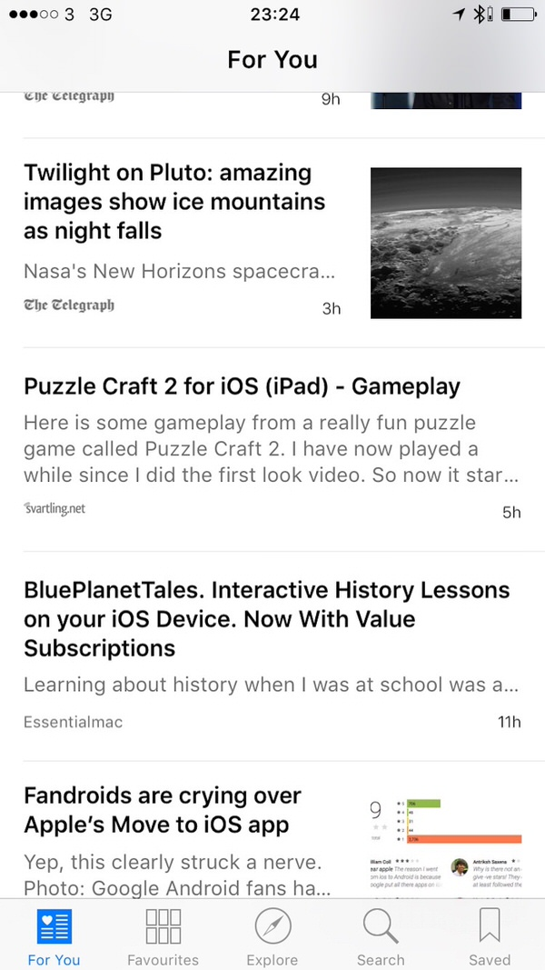 Apple News For You Apple News.  Basically Safari Reader View In Reverse