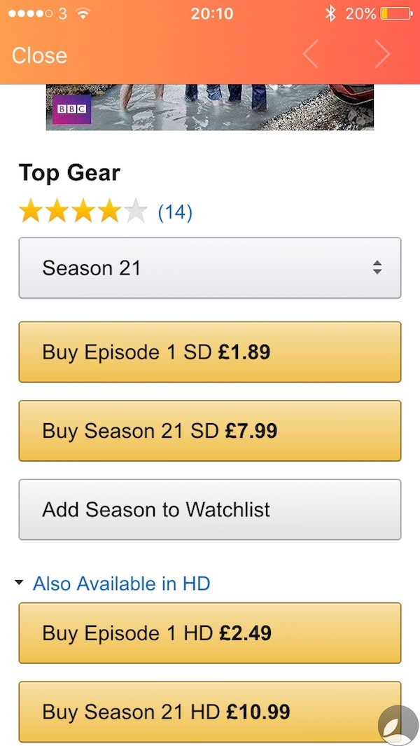 Utelly Top Gear Season 21 Pricing 3 Utelly, A Tv Guide for TV and Online Services.