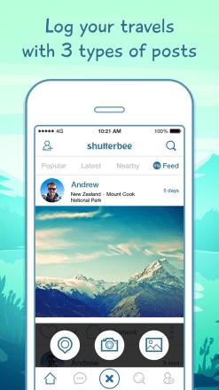 ShutterBee App Screen2 247x440 ShutterBee App : Track and share your journeys
