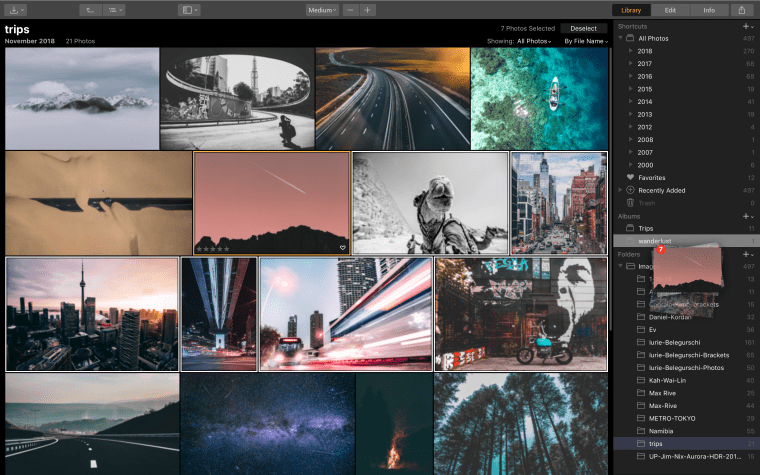 Albums Luminar 3 with Libraries
