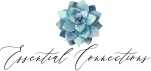 Essential Connections logo with blue succulent