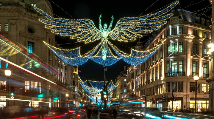 Regent's Street lights up!