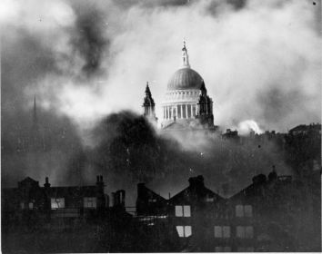 St. Paul's Cathedral during the Blitz of London