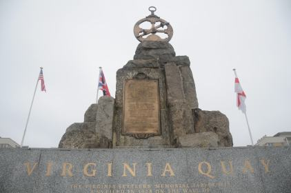 The Virginia Quay Settlers Monument in London