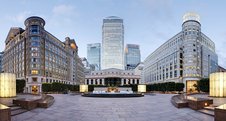 London's second 'City' – Canary Wharf in Docklands