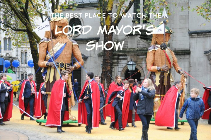 The best place to watch the Lord Mayor's Show!