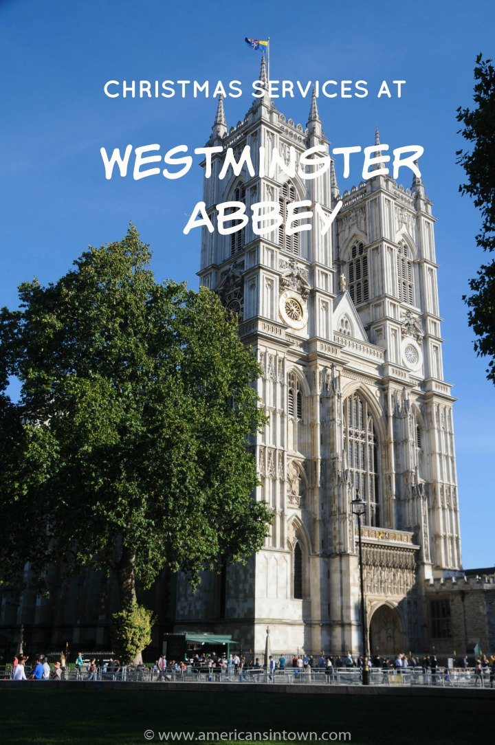 Christmas services at Westminster Abbey