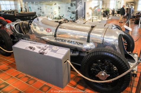 A 24 litre Napier Railton that once raced at Brooklands