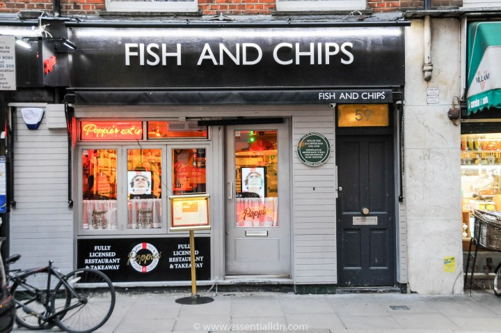 Poppies fish and chip shop