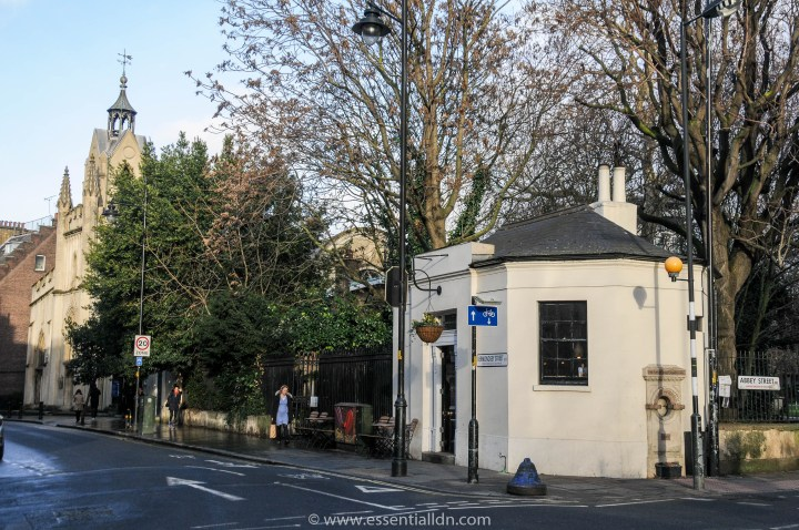Bermondsey Street. The Church of St Mary Magdalen and the old parish watch-house.