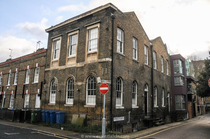 Bermondsey United Charity School for Girls from the 1830's, on Grange Walk.