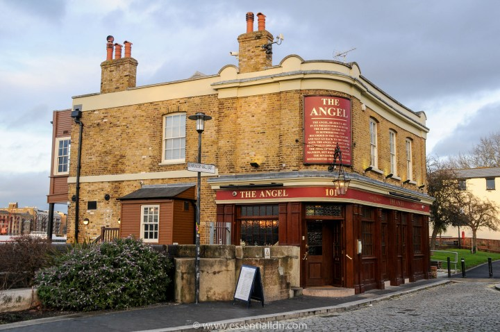 The Angel pub on Bermondsey Wall East.