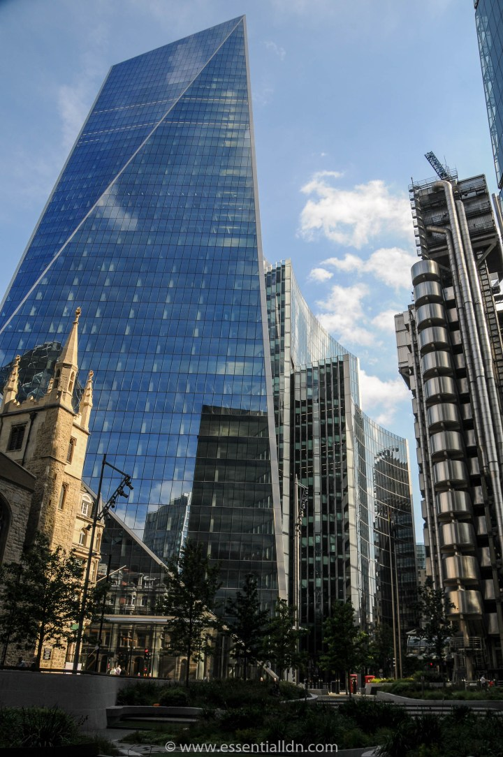 St Andrew Undershaft, 52 Lime Street (the 'Scalpel) (KPF), The Willis Building (Foster), Lloyd's building