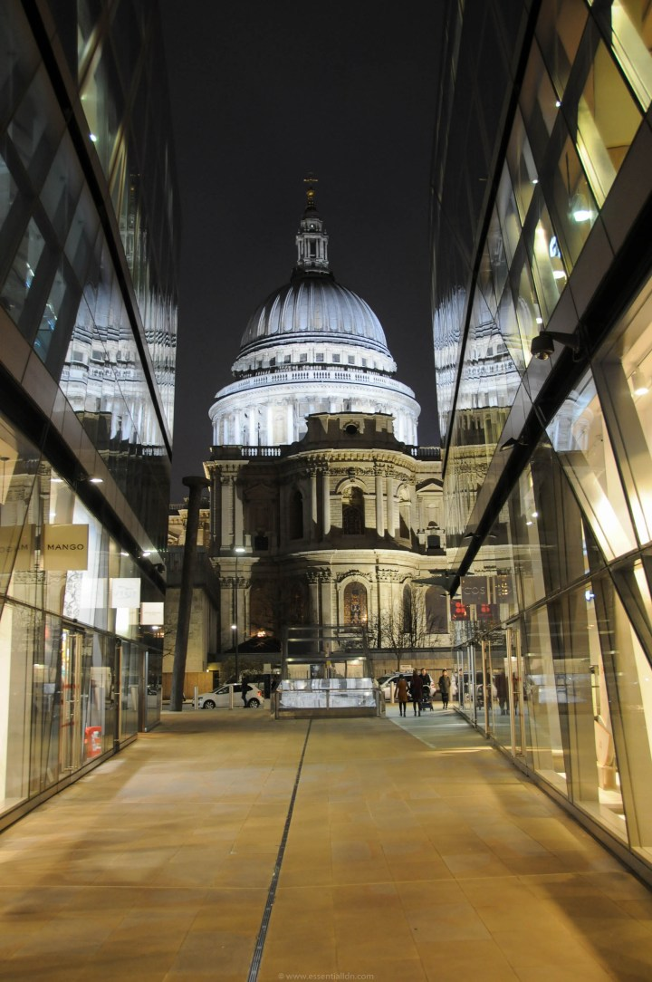 The stunning view from within the One New Change shopping centre, Cheapside