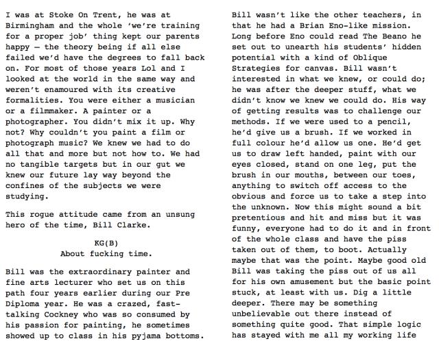 Spacecake, pp 49-50: Bill Clarke