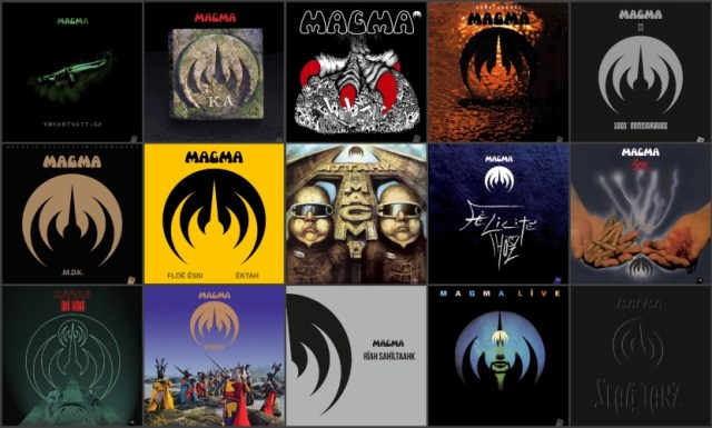 Magma albums med res