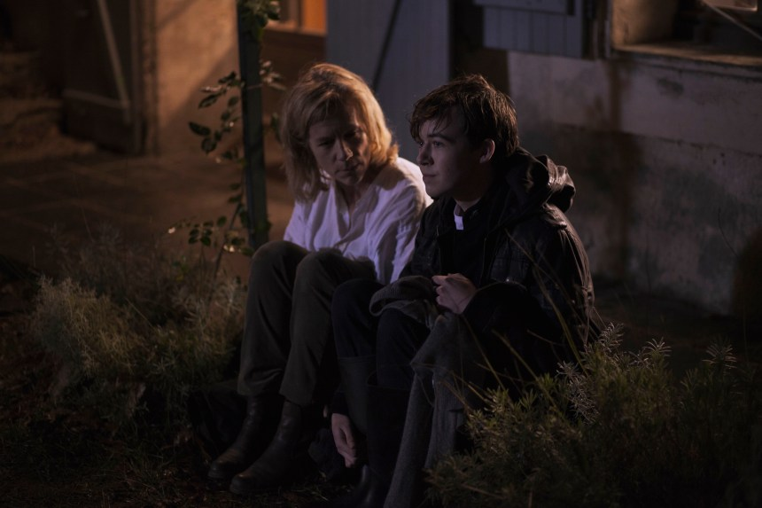 Juliet Stevenson and Alex Lawther in Departure