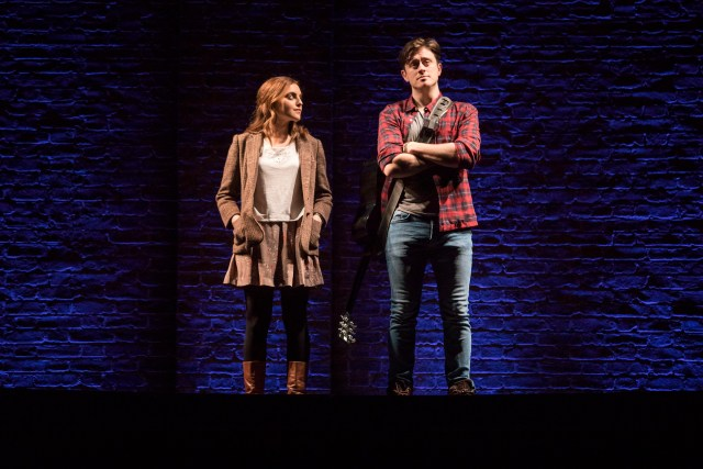 Landmark Productions presents Once at the Olympia Theatre, 30 June – 26 August, 2017 oncemusical.ie L-R Niamh Perry as Girl and Brian Gilligan as Guy. Photo:Patrick Redmond