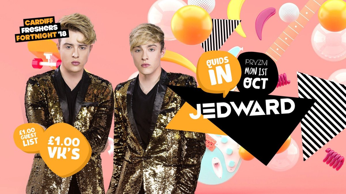 Jedward To Rock Cardiff As Part Of  Freshers Fortnight October
