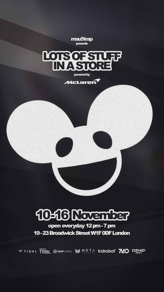 deadmau5 announces London pop-up 'lots of stuff in a store'