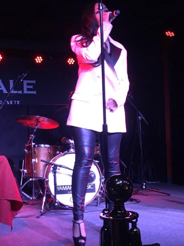 Rebecca Ferguson, Boisdale, Cabot Square. Photo Credit Lisa Hafey