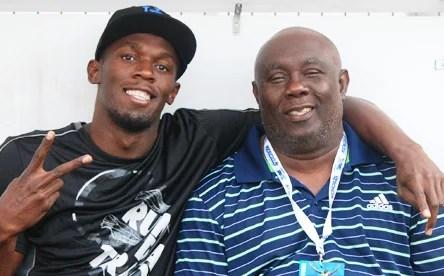 Usain Bolt and Glen Mills