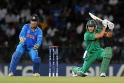 COLOMBO, SRI LANKA - OCTOBER 02: Faf Du Plessis of South Africa bats during the ICC World Twenty20 2012 Super Eights Group 2 match between South Africa and India at R. Premadasa Stadium on October 2, 2012 in Colombo, Sri Lanka. (Photo by Pal Pillai/Getty Images,)