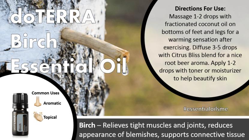 doterra birch essential oil
