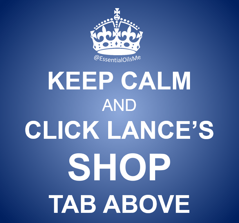 Keep Calm And Click Lance's Shop Tab Blue