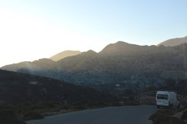 On the way back through the Cretan mountain road