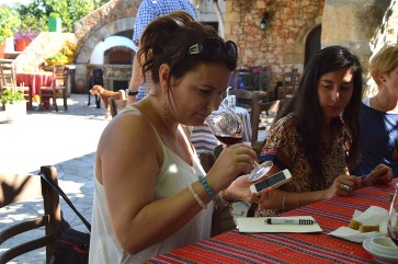 Wine tasting at the Manousakis winery