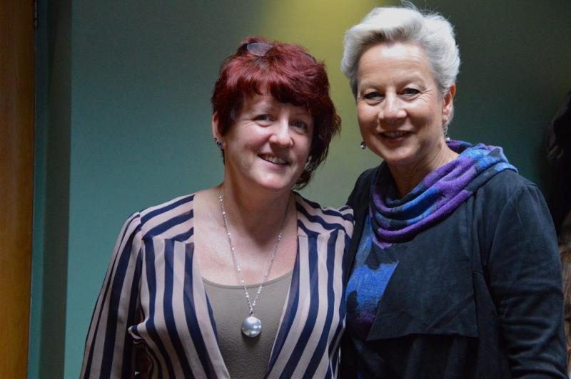 Robbi Zeck és Christine Courtney, founder of OBUS School & Wellness Center