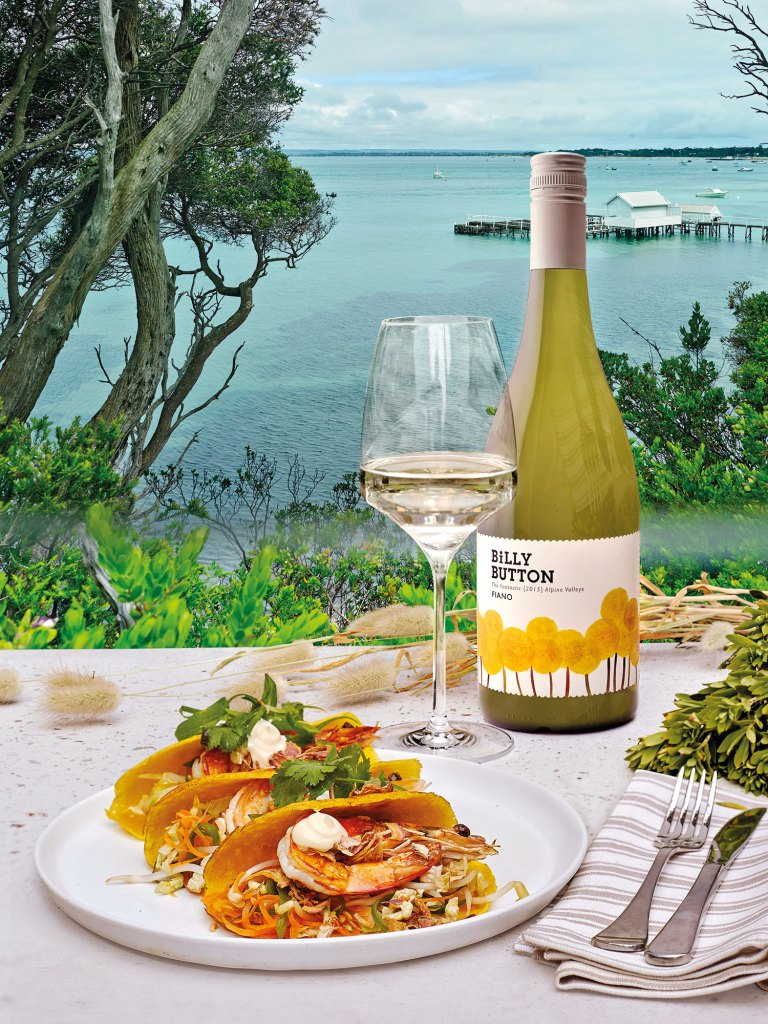 Billy Button Fiano & soft prawn tao recipe