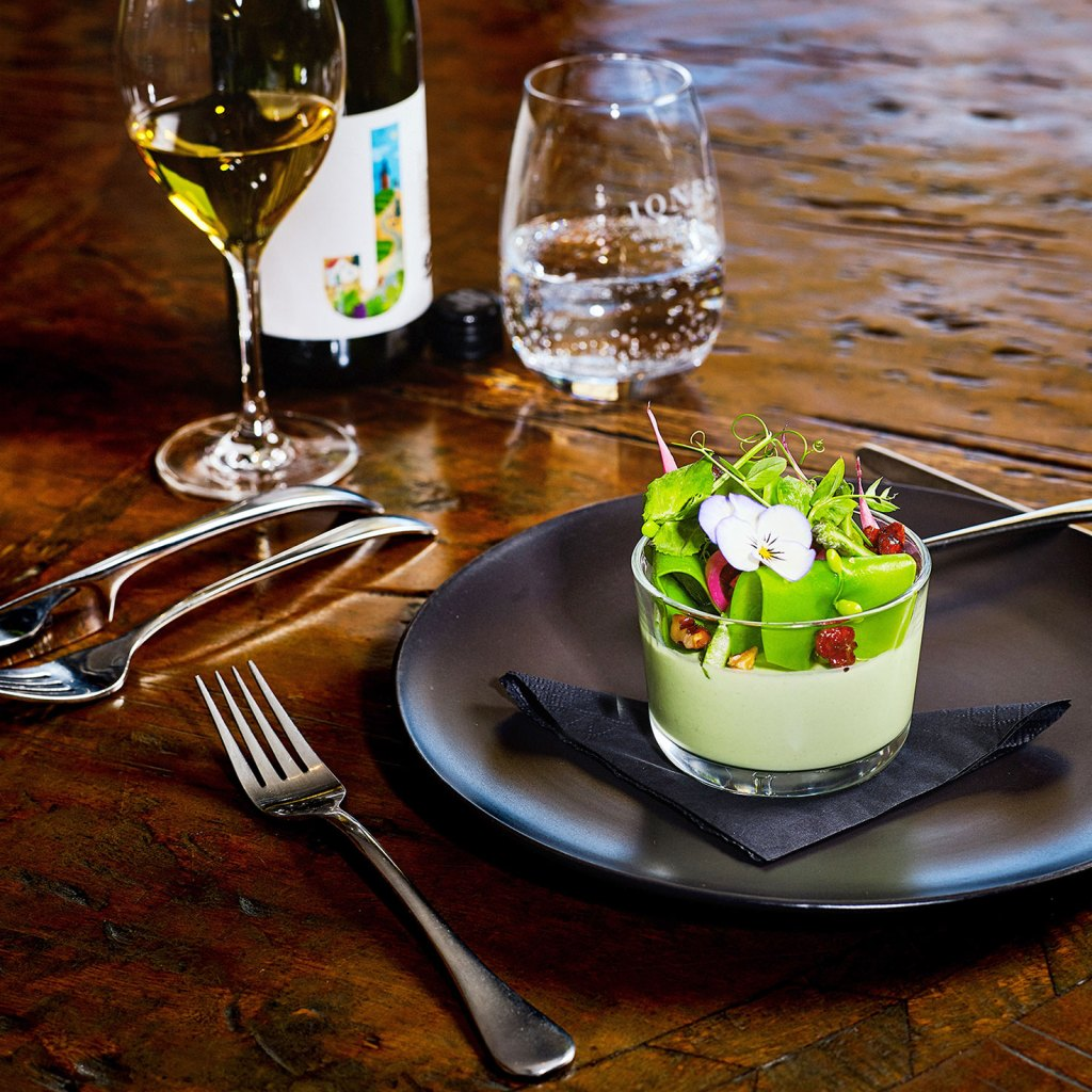 Asparagus and Goat's Cheese Panna Cotta