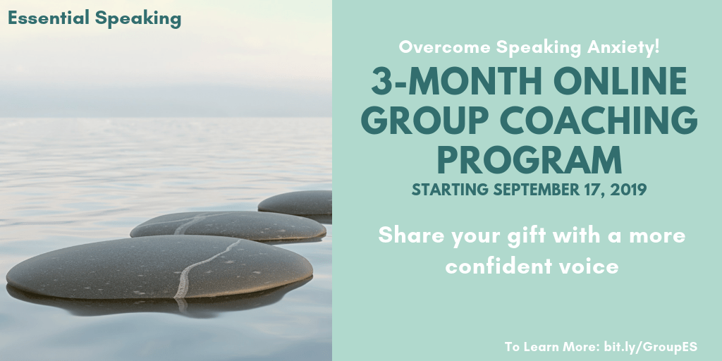 End Speaking Anxiety - Online Group Coaching
