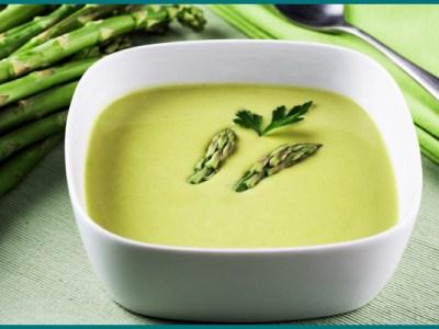 soupe aux épluchures d'asperges