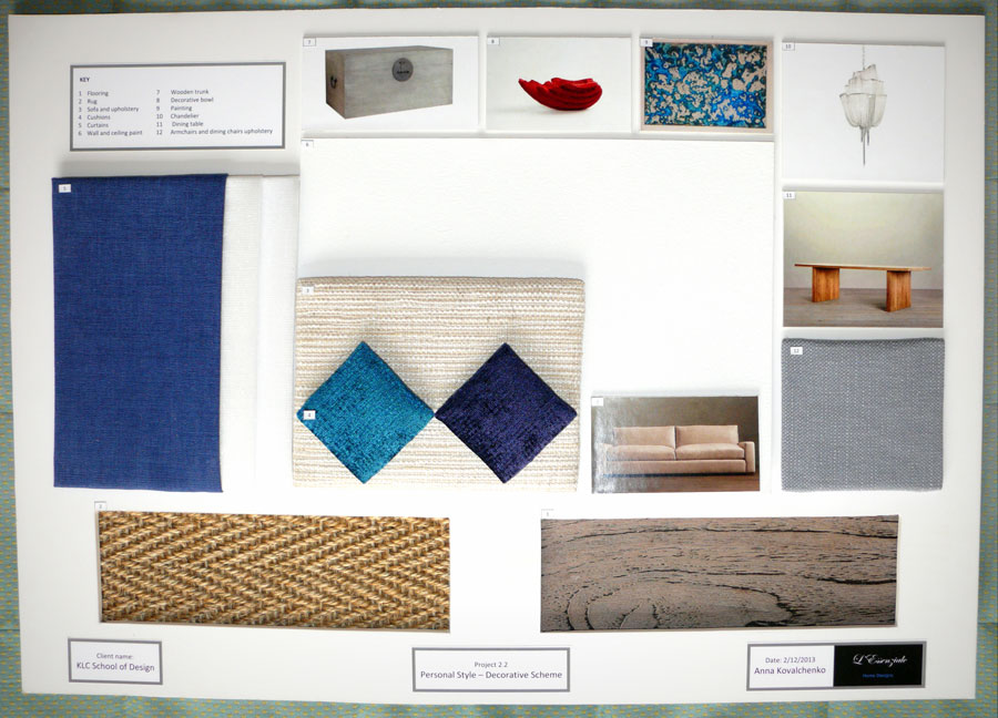 Elegant Interior Design Sample Board