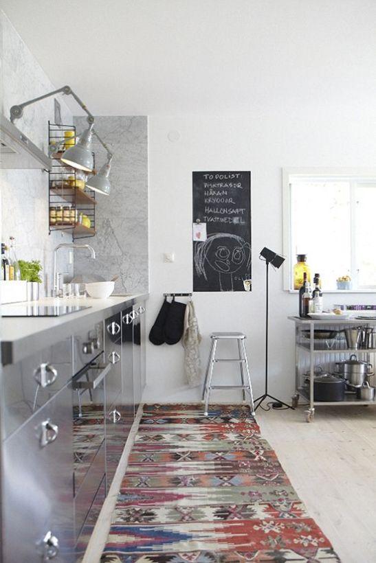 oriental rug kitchen