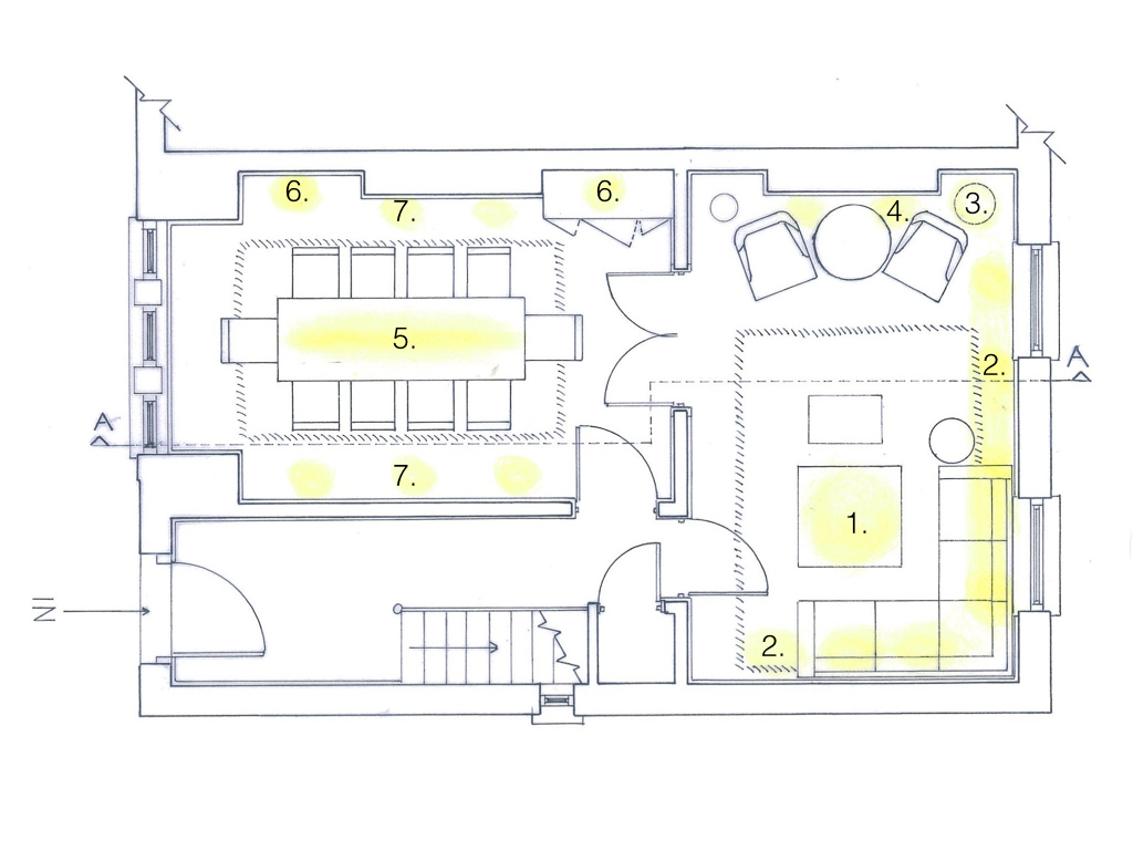 how to draw a lighting plan