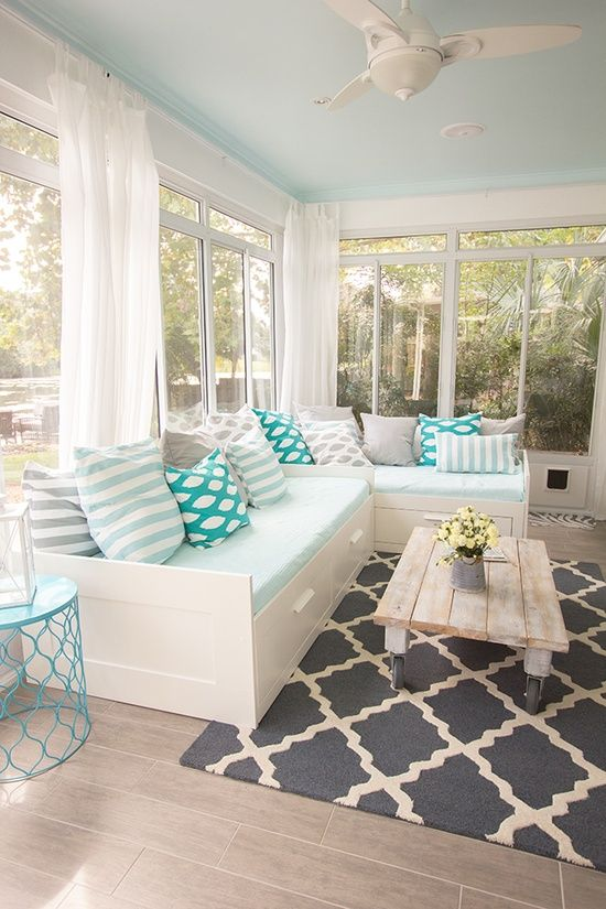 conservatory Another trick to make this sun room feel as sea breezy as possible is to hang floaty white curtains from the windows which will definitely ... & 5 Amazing Ideas to Furnish and Decorate a Conservatory