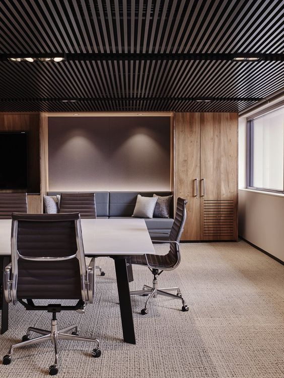 office space lighting. The Lights Make Room Appear Longer And Linear, We Cannot Forget That They Add A Touch Of Glamour To Office As Well. Note Style Can Also Space Lighting M