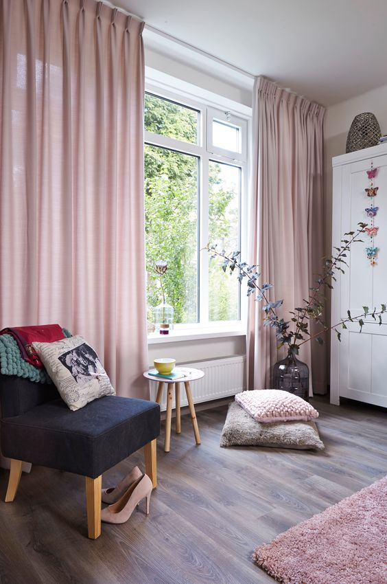 Curtains That Are Not Matched With The Rest Of Interior Design