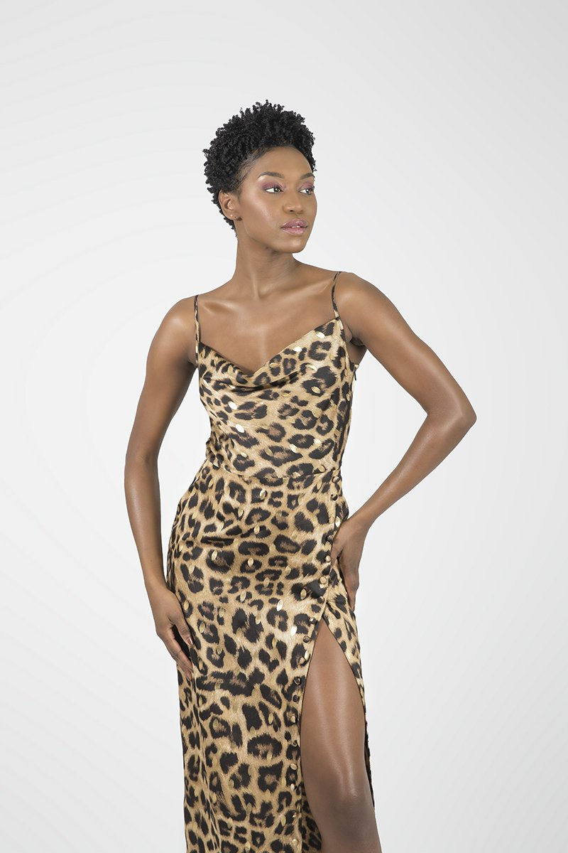 Tati Animal Print Cheetah Gold - Essere Vegano Vegan Clothing