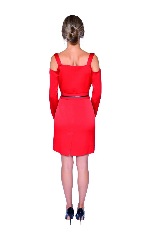 Angelica Red Blazer Dress - Essere Vegano Vegan Clothing