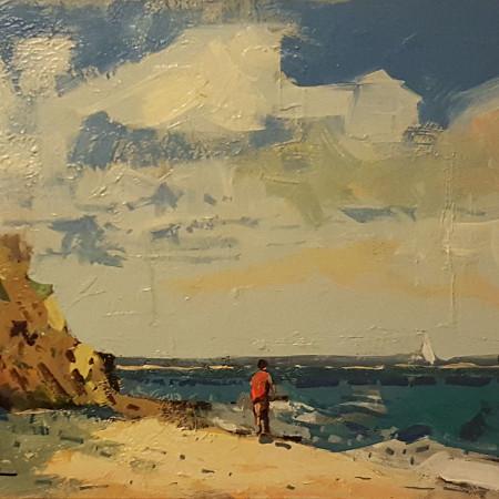 Marina - olio su cartone telato - cm. 25 x 40