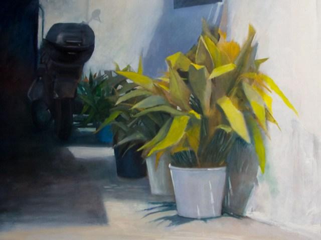 Aspettando il centauro - acrilico su tela - cm. 80 x 60