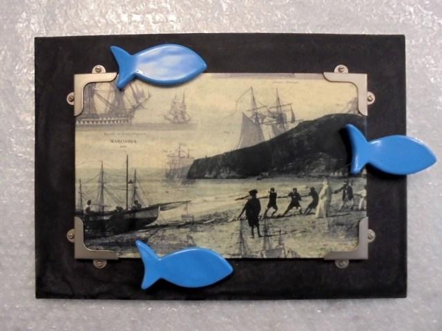 Souvenir - polimaterico (ceramica con smalti, carta, vernici e metallo) - cm. 25 x 35