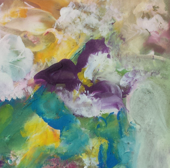 Fantasie Floreali pittura - olio su cartone telato - cm. 20 x 25 (con cornice)