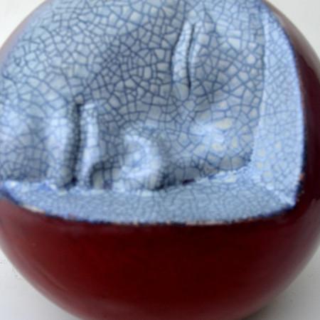 Eclisse - terracotta smaltata - diam. cm. 20