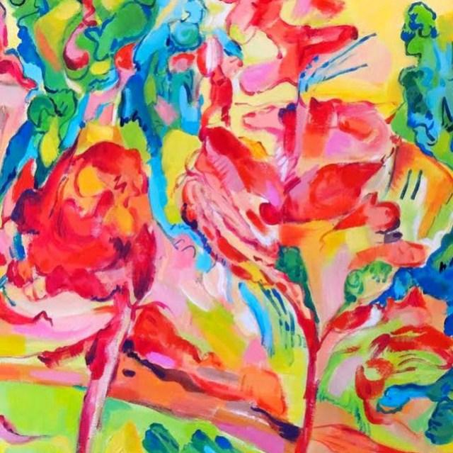 Il Bosco - pittura acrilica - cm. 60 x 80